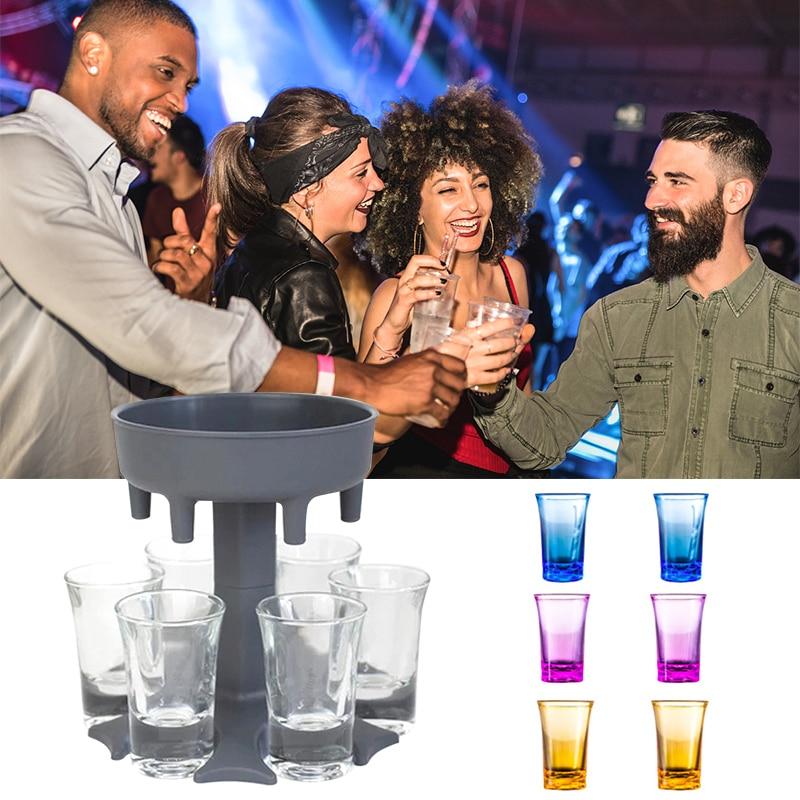 6 Shot Glass Dispenser Holder Bar Wine Whisky Beer Dispenser Accessories  Caddy Liquor Dispenser Party Games Drinking shot glasse|Wine Pourers| -  AliExpress