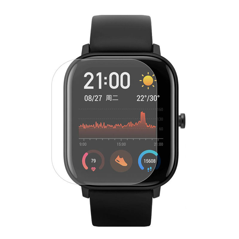 Screen Cover For Xiaomi Huami Amazfit GTS Watch Soft TPU Screen Protector Non-Tempered Glass Protective Film For Mi Amazfit GTS