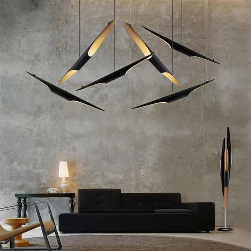 Post Modern Simple Restaurant Bamboo Tube Chandelier Clothing Store Chandelier Bedroom Individual Creative Lighting