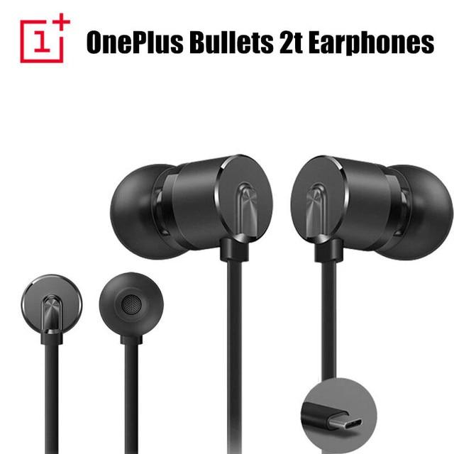 Orijinal OnePlus mermi 2t kulaklık tip c OnePlus mermi 2T kulak içi kulaklık için uzaktan Mic ile Oneplus 7 pro/6 T cep telefonu