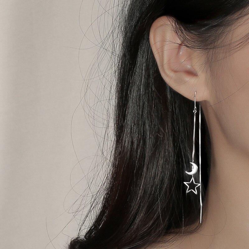 Korean New Earings Fashion Jewelry 2020 Long Ear Chain Hollow Out Star Earrings for Women Jewelry Wholesale Kolczyki