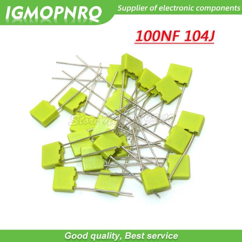 20PCS 100NF 104J Correction Capacitor 100V104J 100NF 0.1UF 100V 104 104J 5mmPolypropylene Safety Plastic Film