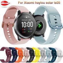 Silicone macio 22mm pulseira para xiaomi haylou solar ls05 original inteligente pulseira para xiaomi haylou solar correa