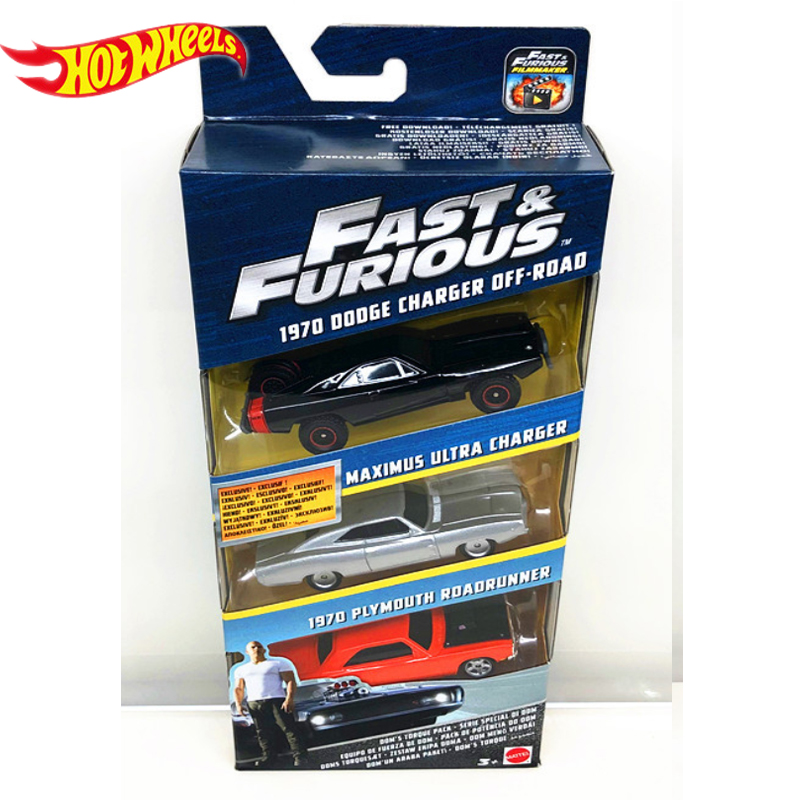Genuine Hot Wheels Fast and Furious Series 3 Cars Dodge Charger Preferential Pack Kid Toys Boy Birthday Gifts FCG01 5