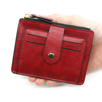 2020 New Credit ID Card Holder Slim Leather Wallet Business Purse Money Case For Men Women Black Fashion Card Wallet Wholesale men women leather credit card holder case card holder wallet business card female wallet purse luxury clutch wallets