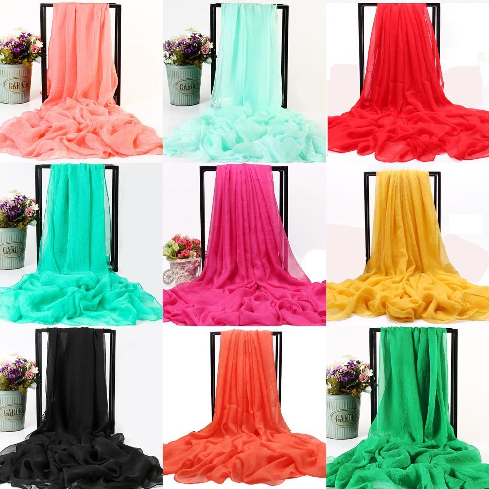 La MaxPa Beach   scarf   women Cover Summer solid Silk feeling   Scarf   Chiffon   Scarf   Women Pareo   Wrap   Sarong Female Long Cape k2407