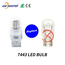 цена на AMYWNTER T20 Led car light Source 7440 7443 led bulb white car Turn Signal Lights 3014 SMD 4W led Reversing lamp automobiles