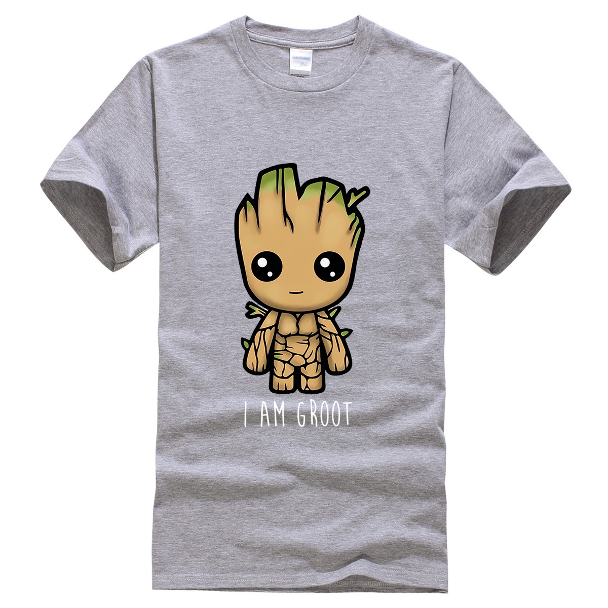 I Am Groot Casual T Shirt High Quality Men's T-shirts Streetwear Cotton Male T-Shirt Cute Print Groot Summer Man Brand Tops Tees