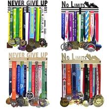 No Limits Never Give Up Marathon metal medal hanger