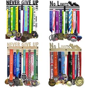 Image 1 - No Limits Never Give Up Marathon metal medal hanger