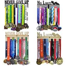 Percha metálica para medallas, sin límites, nunca te rindas