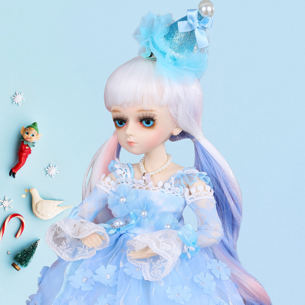 1/4 BJD Doll 18 Ball Jointed Dolls With Full Outfits Dress Wig Shoes Makeup Toys For Children Best Gifts For Girls Collection