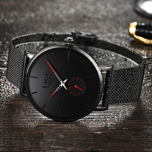 Image 3 - Women Watch LIGE Top Luxury Brand Steel Mesh Waterproof Ladies Watches Flower Quartz Female Wristwatch Charming Girl Clock 2020