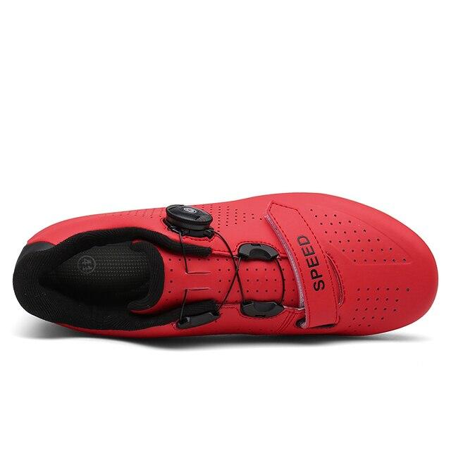 Barato sapatos de ciclismo spd cleat men mtb sapatos ao ar livre respirável auto-bloqueio sapatos de bicicleta de montanha mulher tênis de corrida 4