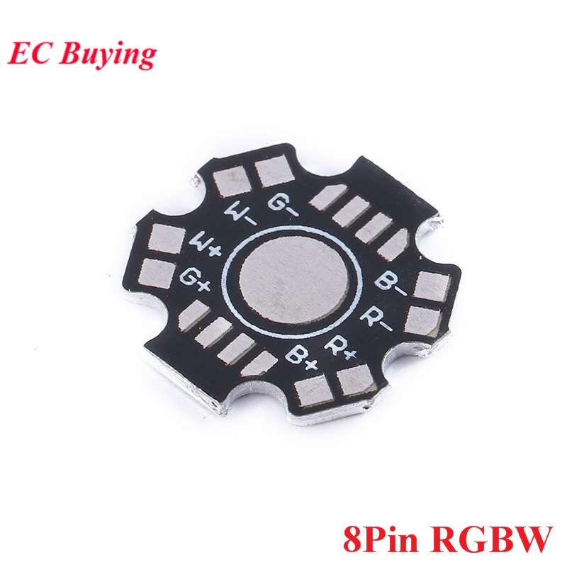 10pcs 1W 3W 5W Heatsink Heat Sink LED Aluminum Base Plate RGB RGBW LED PCB Board For Cooling Heatsink LED Diode 8P 8Pin 8 Pin