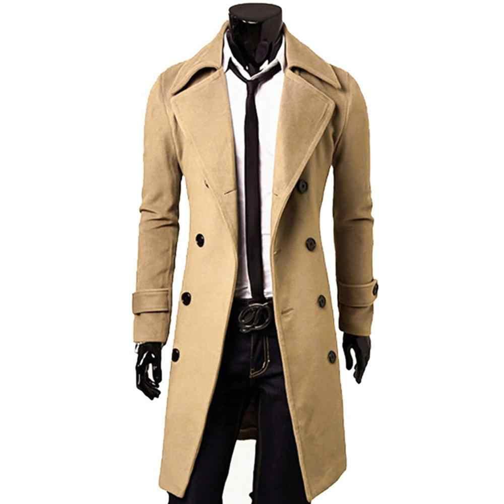 2020 새로운 도착 가을 겨울 트렌치 코트 남자 브랜드 의류 쿨 망 롱 코트 최고 품질의 면화 남성 오버 코트