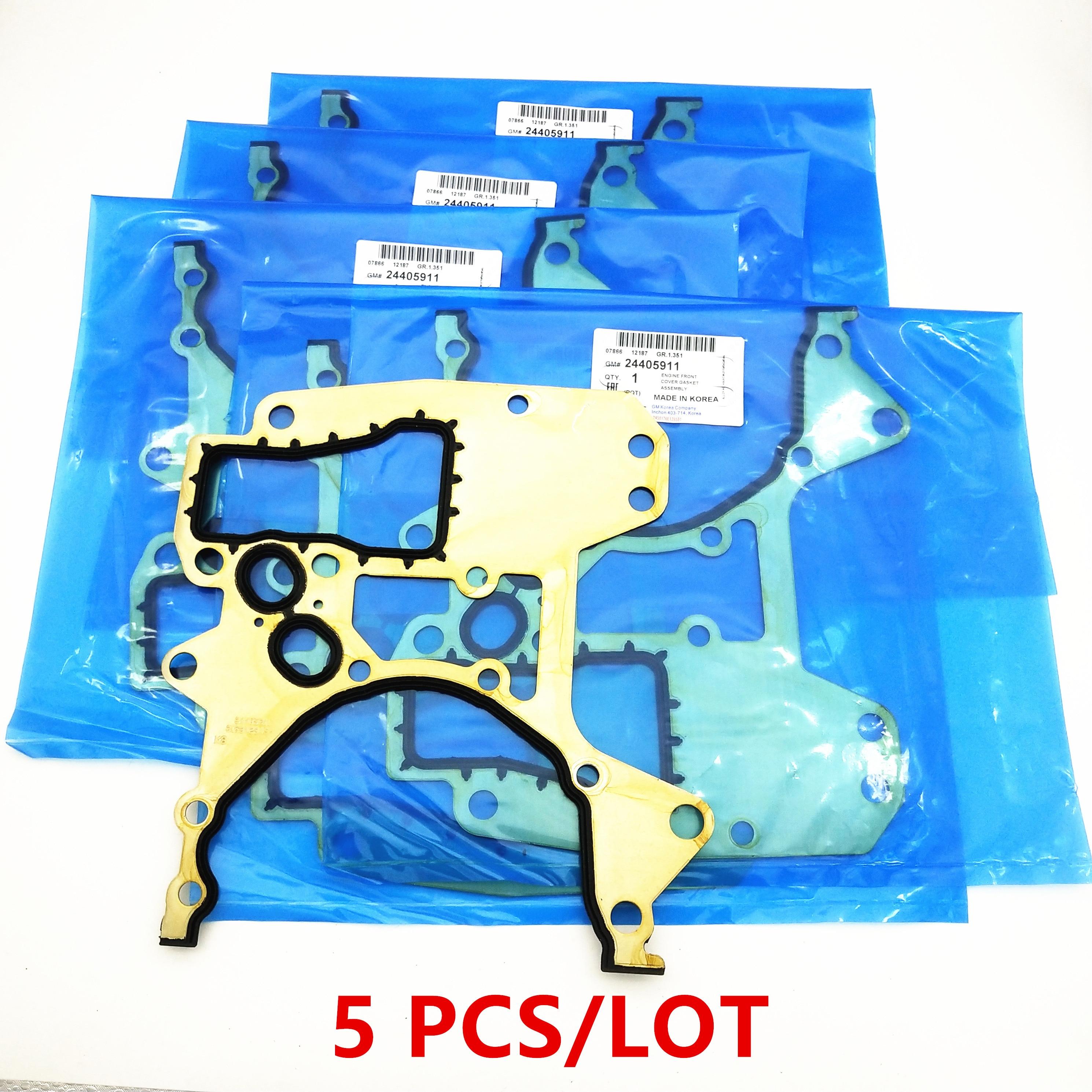5PCS Original Engine Timing Cover Gasket For Chevolet Cruze Sonic Aveo Pontiac G3 Opel Astra 1.6L/1.8L engine OEM# 24405911