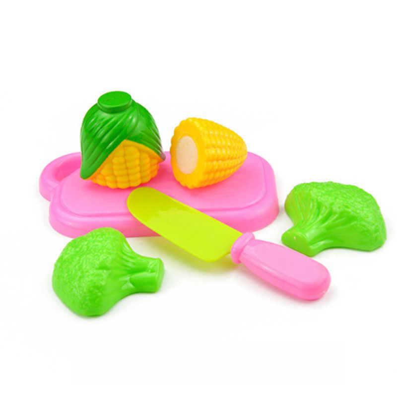 فاكهة طعام خضروات قطع مجموعة التظاهر دور لعب ألعاب طعام المطبخ للأطفال ألعاب تعليمية ، 4 قطعة نمط عشوائي