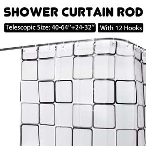 Expandable Curved Shower Curta