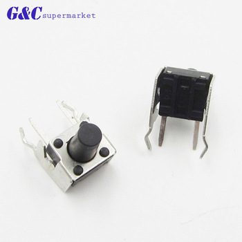 50/100PCS Middle 2 pins 6X6x9mm 2PIN dip TACT push button switch Micro key power tactile switches 6x6x9 6*6*9MM image