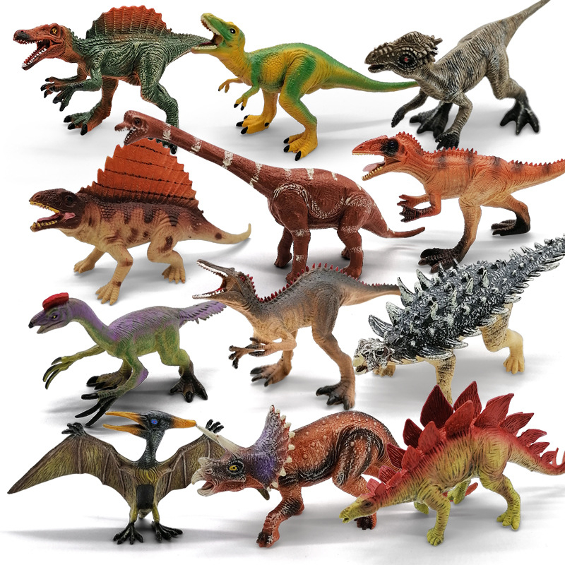 20cm Dinosaurs Toy Plastic Figures Simulation Model Dinosaur 12 pcs Large 15cm