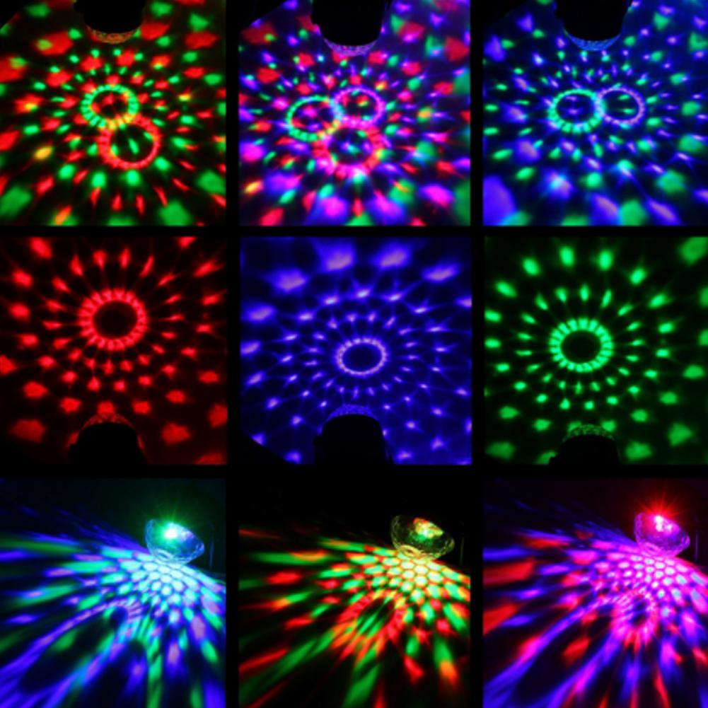 Colorful DJ Disco Ball Lumiere Light 3W Sound Activated
