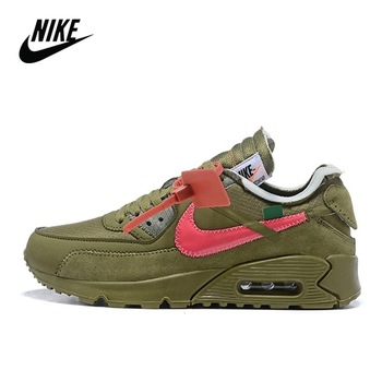 Nike-Sports shoes for men, original shoes for running or outdoor sports, model Virgil Abloh OFF white x Nike Air Max 90