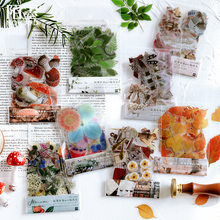 Mohamm – Autocollants décoratifs motifs plantes et fleurs, adhésifs de décoration, étiquettes pour papier à lettre, Scrapbooking, papeterie bureau, accessoire, 40 feuilles,