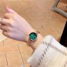 Green wathes women Luxury Dial Bracelet Quartz Clock Fashion