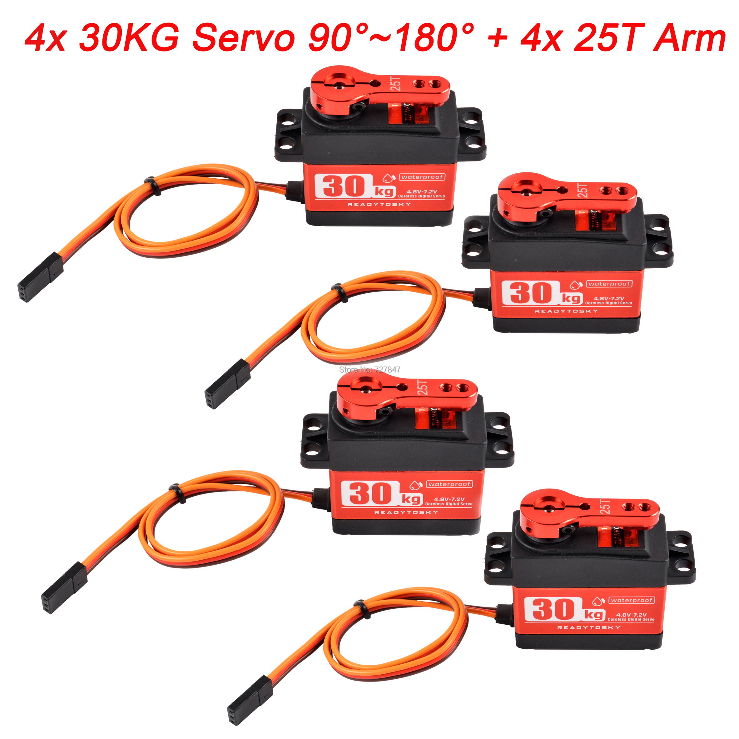 Update 180 Degree RC Servo 20KG / 25KG / 30KG Full Metal Gear Digital Servo Baja Waterproof Of Version 25T Arm For Cars RC Toy