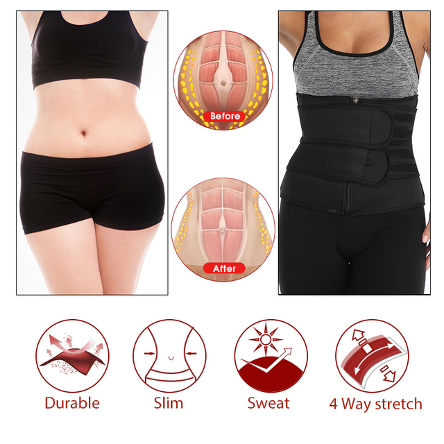 Fajas Reductoras Moldeadora Neopreno Sauna Waist Trainer Body Shaper Corset Sweat Belt Weight Loss Compression Trimmer Workout 4