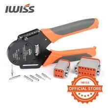 Iwiss IWD-12/16/20 alemão estilo dechi conector mini alicate de friso usinado terminal macho e fêmea pino crimper ferramenta