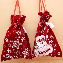 1 Piece 2019 New Year Christmas Candy Bag Santa Claus Drawstring Sack Vintage Fresh Cotton Gift Bag Bundle Pocket#50(China)