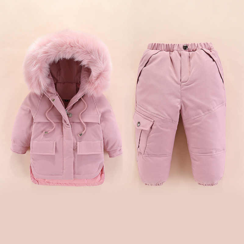 Kids Winter Down Jacket 2019 Children Down Clothing Sets 2Pcs Jacket + Pants 1-4 Years Baby Girls & Boys Winter Down Coats