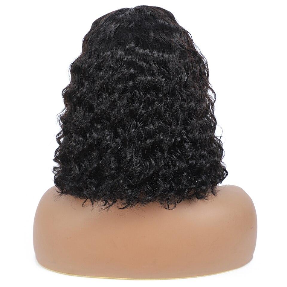 Water Wave Short Bob 4x4 Closure Wig   Lace Frontal Wavy Deep Bob  Wigs  Pre Plucked Lace Wig 2