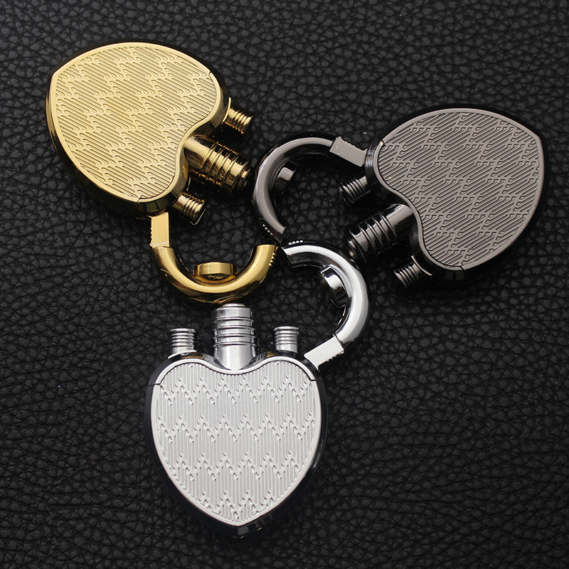 2019 New Compact Heart Jet Lighter Butane Turbo Torch Lighter Creative 1300 C Windproof Lighter Inflated NO GAS in Matches from Home Garden