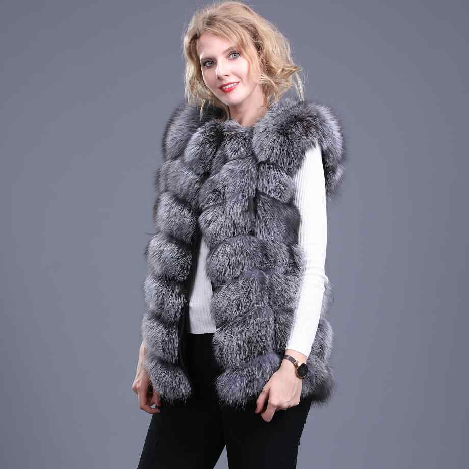 Frauen neue natürliche feuer fuchs pelz weste Echt red fox pelz, der Silber fuchs pelz weste Winter warme mode casual Europäischen station st
