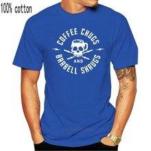 T-shirt da caffè e bilanciere coprispalle t-shirt O collo t-shirt in cotone t-shirt divertenti t-shirt in cotone t-shirt divertente t-shirt in cotone t-shirt