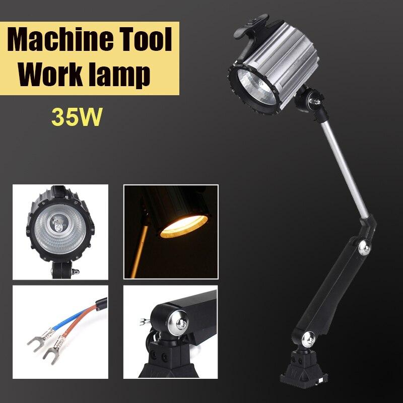 35 Вт светодиодный Длинный рычаг складной IP67 водонепроницаемый CNC машина Рабочая лампа Инструмент Расширенный поворотный рычаг