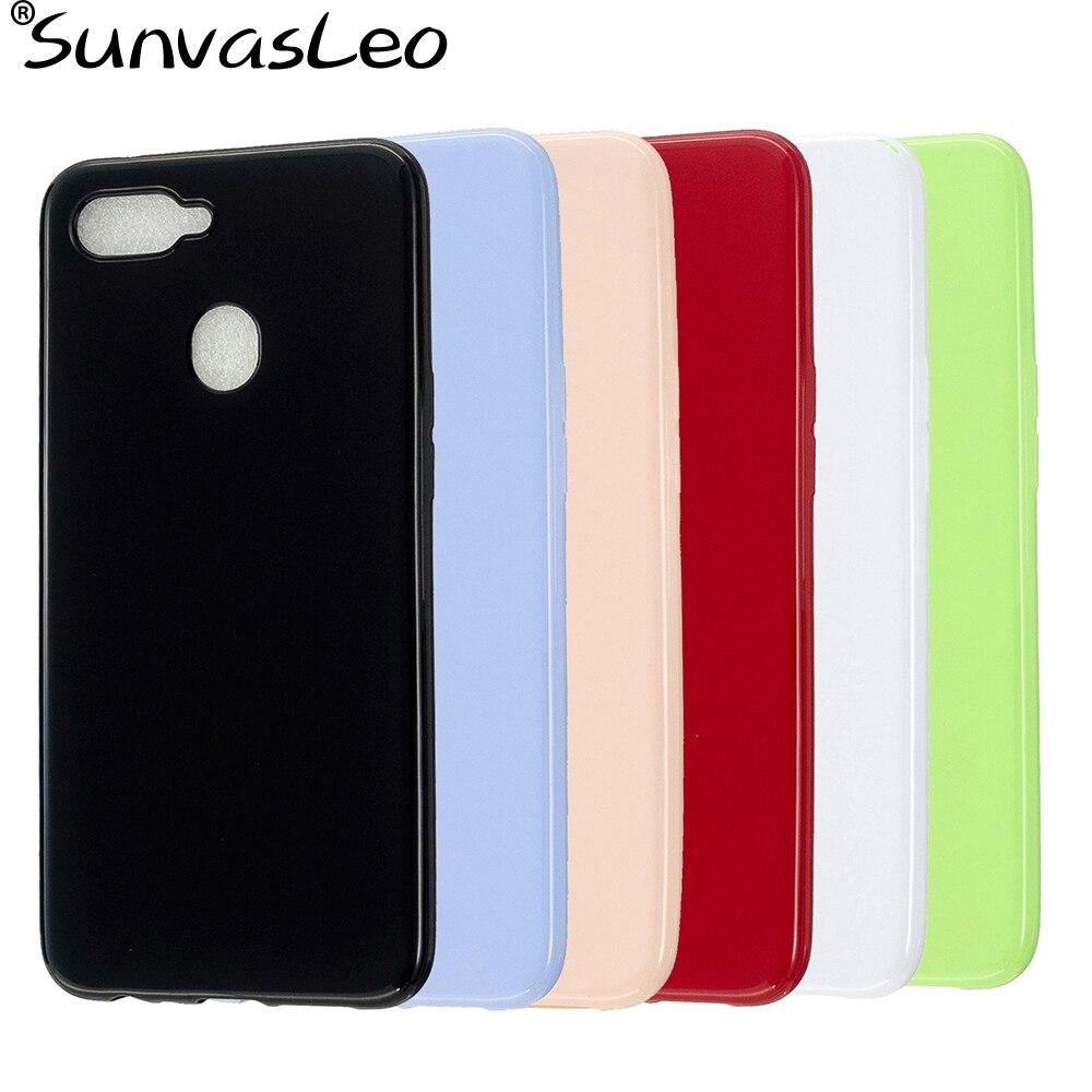 For Oppo F5 F7 F9 F11 F11 Pro A3S A5 A7 A9 A79 A83 Pastel Colorful Candy Glossy Soft TPU Case Phone Back Cover Skin Shell