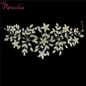 Image 3 - Fashion Cubic Zirconia Bridal Wedding Soft Headband Hairband Tiara CZ Bride Hair Jewelry Accessorie Hairpiece RE3533