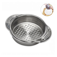 Food Can Strainer, Food Grade 304 (18/8) Stainless Steel Sieve Tuna Press Lid Oil Drainer Remover, Can Colander, Dishwasher Safe