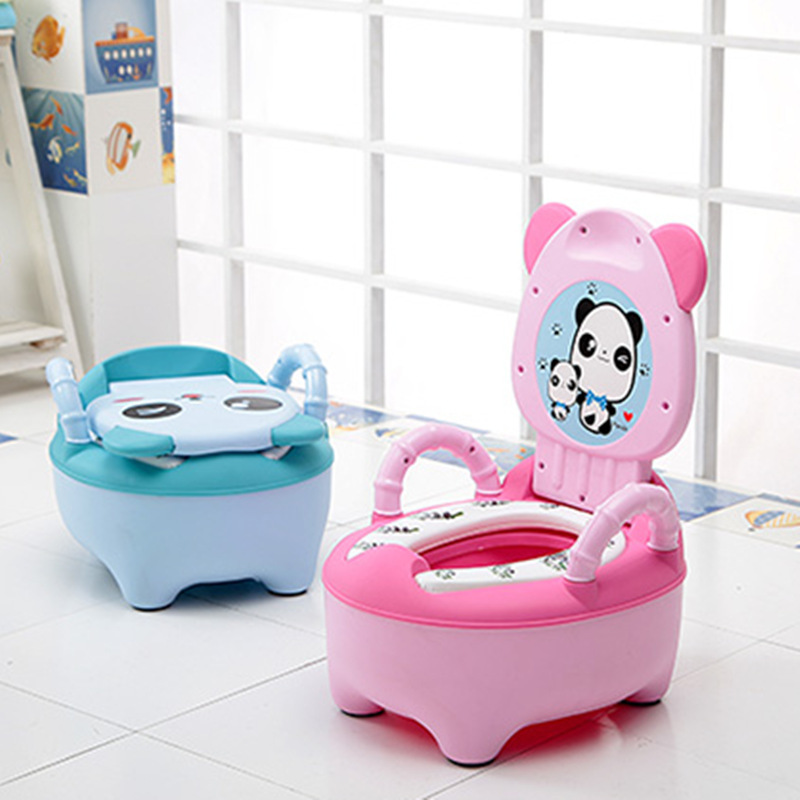 Large Size Children Panda Cartoon Pedestal Pan Children Potty Dual Purpose Men And Women Baby Baby Toilet Chamber Pot