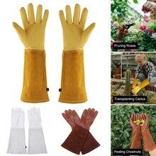 Gloves Long-Sleeve Work Heavy-Duty Pruning Welding Rose 1-Pair Gauntlet Thorn-Proof
