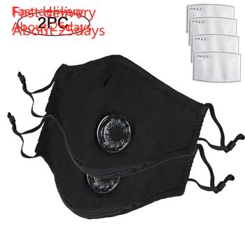 W magazynie maska usta maska 2 szt Maska przeciwpyłowa zmywalne maski PM2 5 z regulowane ramiączka dla kobiet Man Fast Delivery tanie i dobre opinie mascarilla coronavirus Węgiel aktywny Torby Pokój mask coronavirus