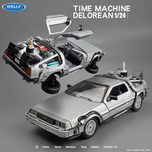 Welly 1:24 Diecast Alloy Model Car DMC-12 delorean back to the future Time Machine Metal Toy Car Gift Collection car models
