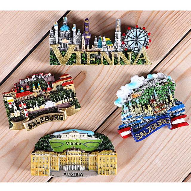 Magnetic refrigerator magnets Italy Switzerland Chile Austria European  countries Tourist attractions souvenir Home decoration 2