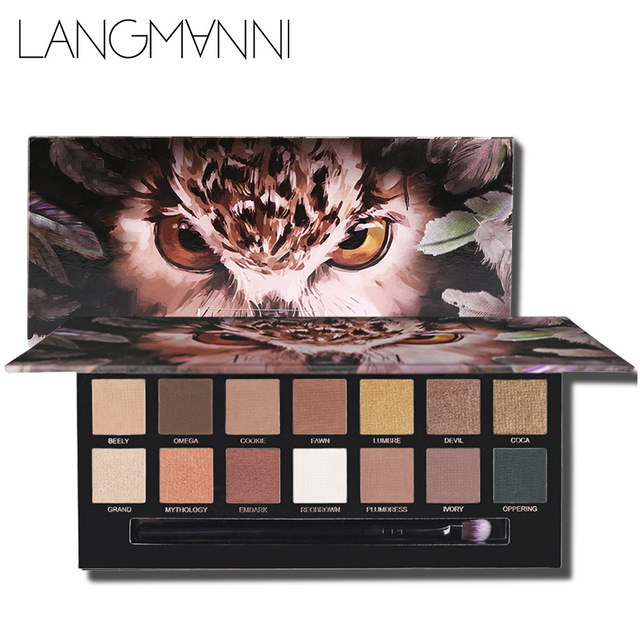 LANGMANNI 14 Colors Tiger Eyeshadow Palette Natural Matte Eye Shadow Makeup Glitter Animal Nude Pallete Cosmetics High Pigment 1