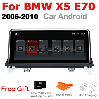 Car Android Radio GPS Multimedia player For BMW X5 E70 2006 2007 2008 2009 2010 CCC original style stereo Screen Navigation