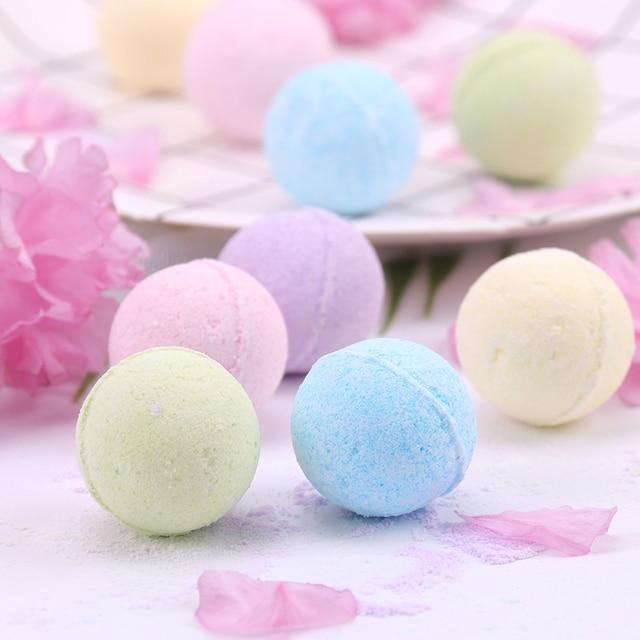 1PC Organic Bath Salt Body Essential Oil Bath Ball Body Skin Whitening Ease Relax Stress Relief Natural Bubble Bath Bombs Ball 2